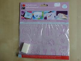 Marabu Zelfklevend 11 designs sjabloom Baby 0274 00 003