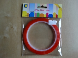 Tape extra sticky tape dubbelzijdig.  10m x 6mm