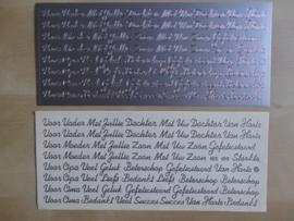 Stickervel Tekst Diverse teksten Zilver