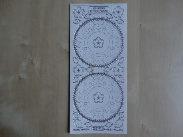 Stickervel Borduren 3193 Starfrom Transparant met Zilver randje