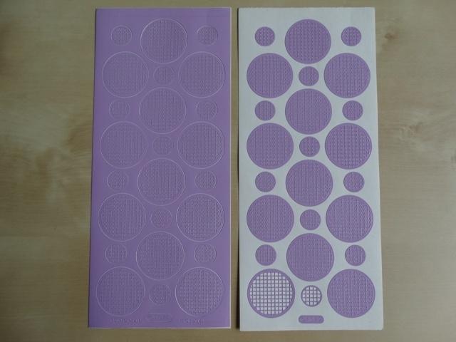 Stickervel Mozaiek 1079 Starform Rondjes Licht paars lila