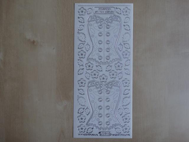 Stickervel Boduren 3191 Starform Transparant met Zilver randje