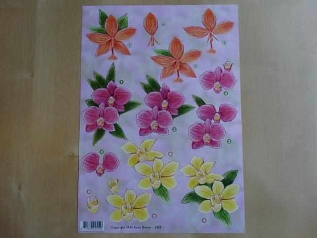3d knipvel Bloemen Anne Design 2510