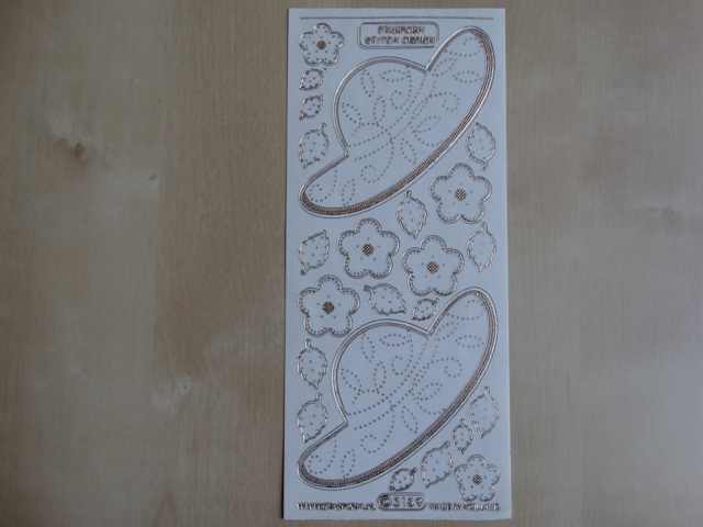 Stickervel Borduren 3189 Starform Transparant met Goud randje