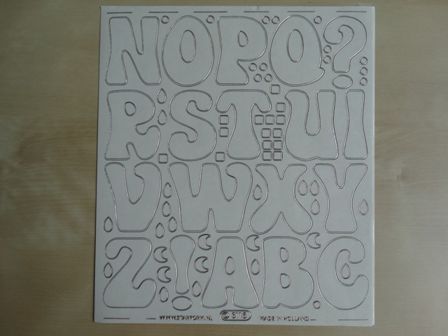 Stickervel Groot 3115 Starform NOPQ Transparant met Goud randje