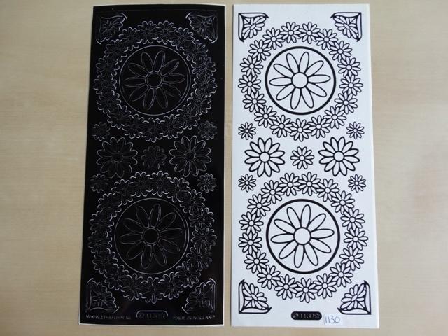 Stickervel Diverse 1130 Starform Zwart