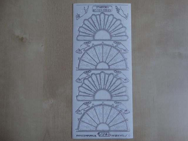 Stickervel Borduren 3208 Starform Transparant met Zilver randje