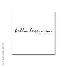 Kraambezoekboek | Hello, here I am!