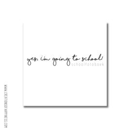 Schoolfotoboek | Yes, I'm going to school! [LET OP! | PRE-ORDER | VERWACHTE LEVERTIJD 28 DECEMBER]