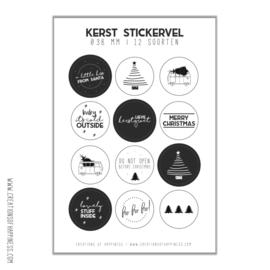 Stickervel | Kerst | 12 stickers