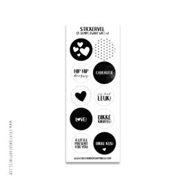 Stickervel | Zwart/wit | #2