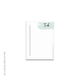 Notitieblok | To Do | Groen | A6