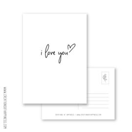 Kaarten | i love you | A6