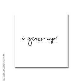 Nul - vier jaar invulboek | I grow up! [LICHT BESCHADIGD]
