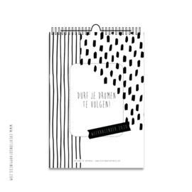 PRE-ORDER | Weekkalender 2020 | Zwart/wit | A4  [LEVERTIJD 24 SEPTEMBER]