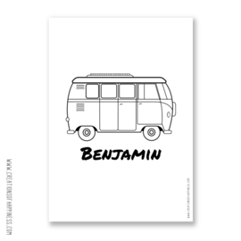 Poster | Bus + naam | Gepersonaliseerd