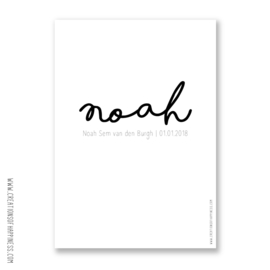 Poster | Geboorteposter Volledige naam | Gepersonaliseerd