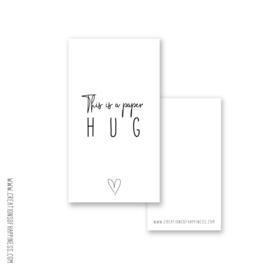 Cadeaukaartje - A paper hug