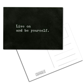 Kaarten - Live on and be yourself