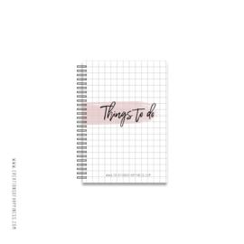 Notitieboekje | Things to do | Roze | A6