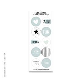 Stickervel | Groen/blauw | #5