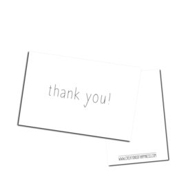 Cadeaukaartje | Thank you!