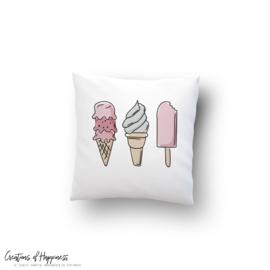 Buitenkussen   Ijsjes! - All you need is ice cream