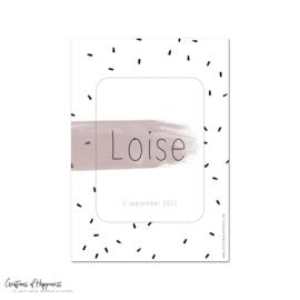 Poster | Naam | Roze | Gepersonaliseerd