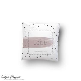 Kussen Loise | Gepersonaliseerd | Roze