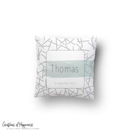Kussen Thomas | Gepersonaliseerd | Groen