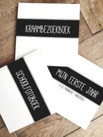 SETPRIJS | 3x Invulboeken Zwart/wit
