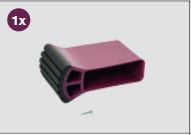 K201218 Krause Corda stabiliteitsbalkvoet Violett 61,5 mm