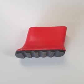 laddervoet ASC premium bordestrap dop klein rood 50 x 20 mm - LVASC01/50-ro