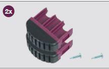 K201164 Krause Corda laddervoet Violett 61,5 mm, set 2 stuks