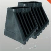 K202017 Krause trapvoeten XL 40 x 20, zwart, per set van 2 stuks