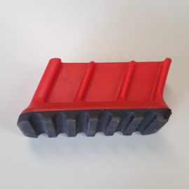 laddervoet ASC premium bordestrap dop groot links rood 86 x 22 mm - LVASC01/86-01ro