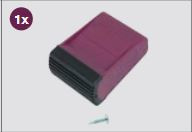 K201201 Krause Corda stabiliteitsbalkvoet Violett 64 mm
