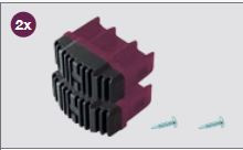 K201270 Krause Corda laddervoet Violett 64 mm, set 2 stuks