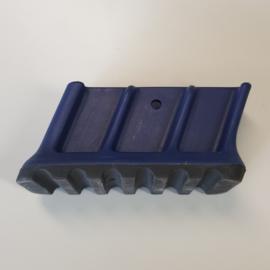 laddervoet ASC premium bordestrap dop groot links blauw 86 x 22 mm - LVASC01/86-01bl