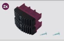 K201140 Krause Corda laddervoet Violett 77 mm, set 2 stuks