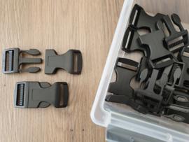 25mm - Klikgesp kunststof -p.st