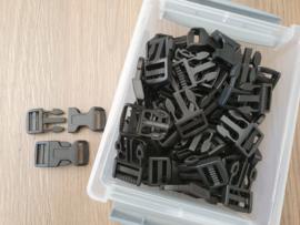 20mm - Klikgesp kunststof - 50 stuks