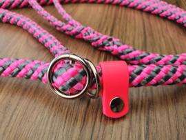 Jachtlijn 160 cm - PinkRoze/Grijs