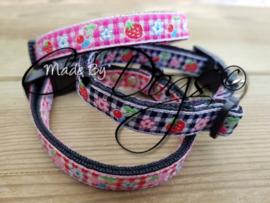 "Maat 3 - Puppy-Bandjes 12mm ""Strawberry"""