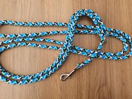 2-StandenLijn 300/150 cm - Blauw/Zwarte Mix