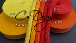 Nylonband Geel/Rood Tinten