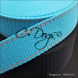 Turquoise - 25mm  | prijs per meter