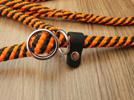 Jachtlijn 200 cm - Oranje/Zwart