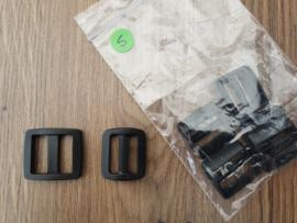 20mm - Schuifgesp Kunststof - Hoog