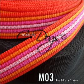 M03 - Oranje/Rood/Roze Streep